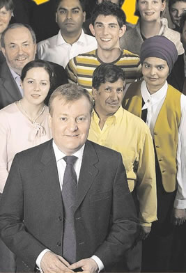 Charles Kennedy and supporters
