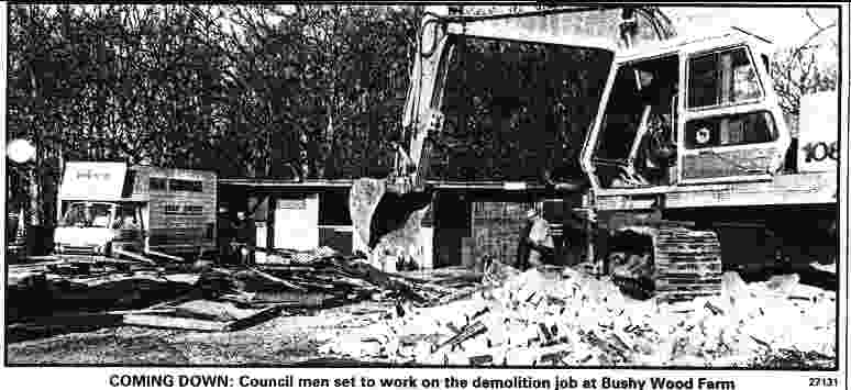 Demolition of Bushywood horse sanctuary