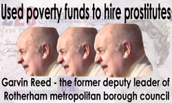 Gavin Reed - another Labour lowlife who used poverty funds to hire prostitutes