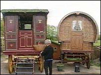Gypsy traditional travellers wagon