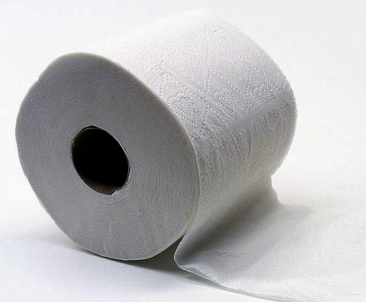 Toilet paper for wiping faeces from your anus