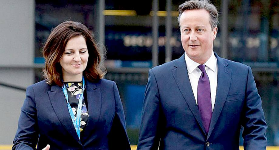 Caroline Ansell and David Cameron put on a show for the press