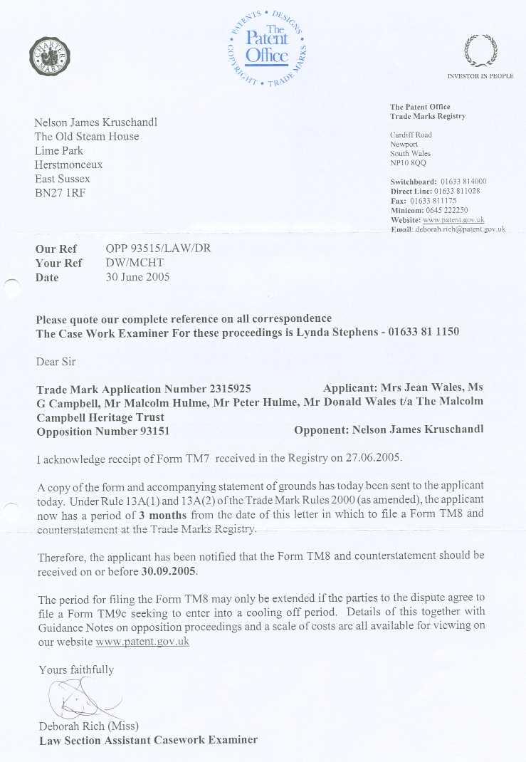 Ownership Letter Sample