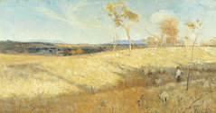 Golden Summer, Eaglemont (Eaglemont, Victoria) by Arthur Streeton (1889) is an early example of the rich tradition of Australian landscape painting.