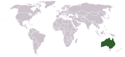 Location of Australia