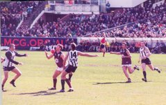 Australian rules football was developed in Melbourne, Australia and is played at amateur and professional levels.