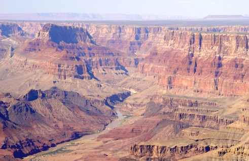 USA dramatic landscape of the American West: Grand Canyon river Colorado