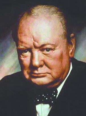 Sir Winston Churchill portrait