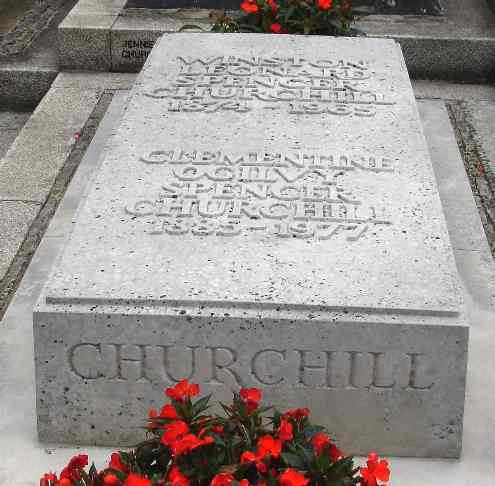 Sir Winston Churchill's grave