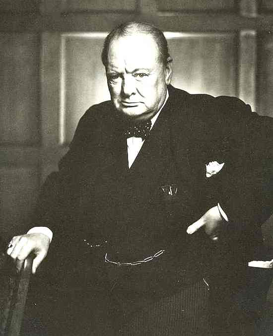 Sir Winston Leonard Spencer Churchill famous stance