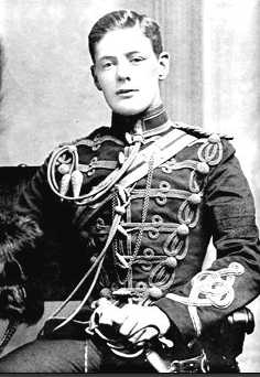Winston Churchill in military uniform 1896