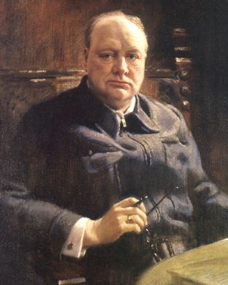 Painting of Winston Churchill