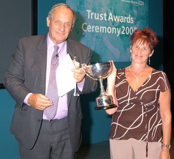 John Lewis July 2005 award ceremony Eastbourne hospital trust
