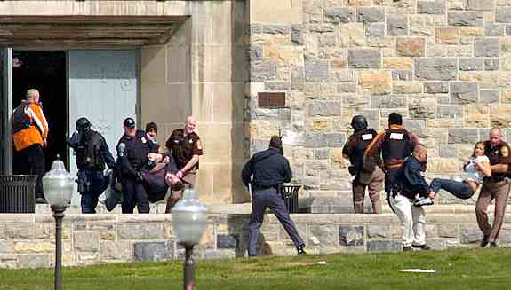 Virginia Tech University student victim evacuation