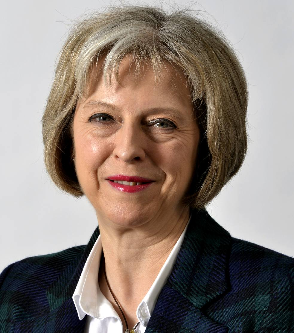 Theresa May MP and Prime Minister of the United Kingdom 2017