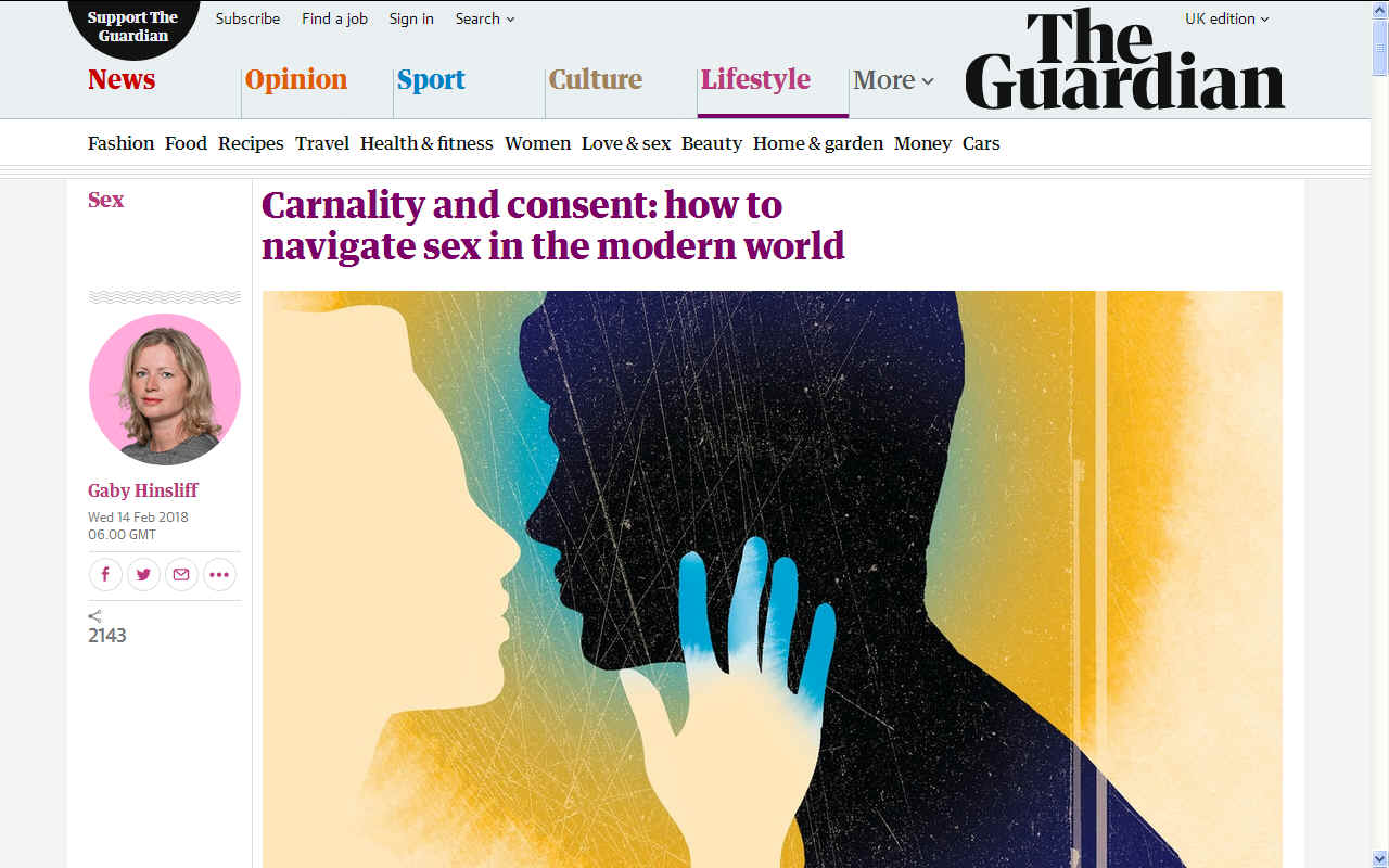 How to navigate sex in the modern world, The Guardian